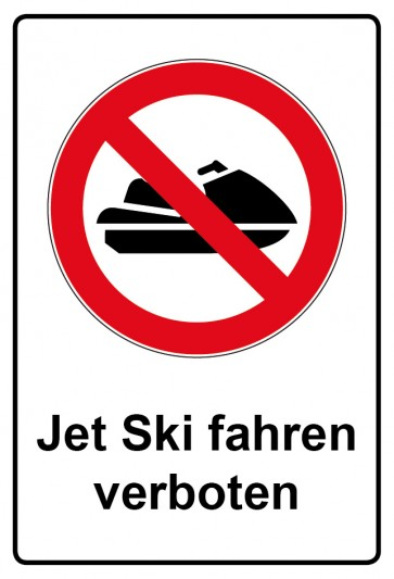 Kombi Aufkleber Jet Ski fahren verboten