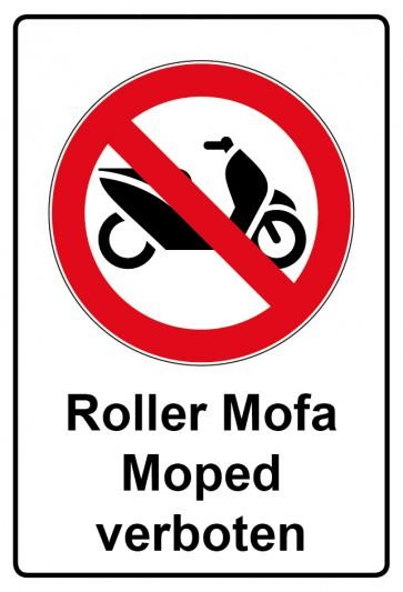 Kombi Aufkleber Roller Mofa Moped verboten