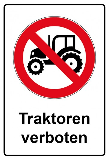 Kombi Aufkleber Traktor verboten