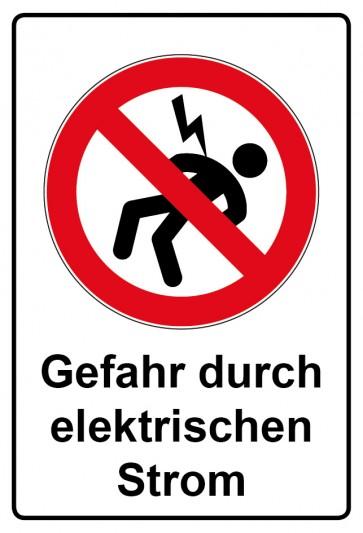 Kombi Aufkleber Gefahr durch elektrischen Strom