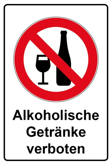 Kombi Aufkleber Alkoholische Getränke verboten