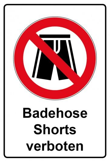 Kombi Aufkleber Badehose Shorts verboten