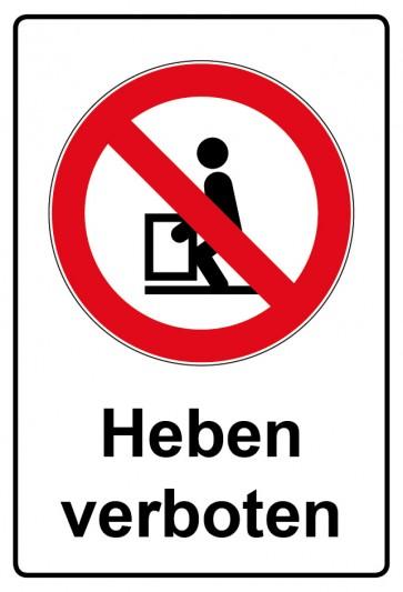 Kombi Aufkleber Heben verboten