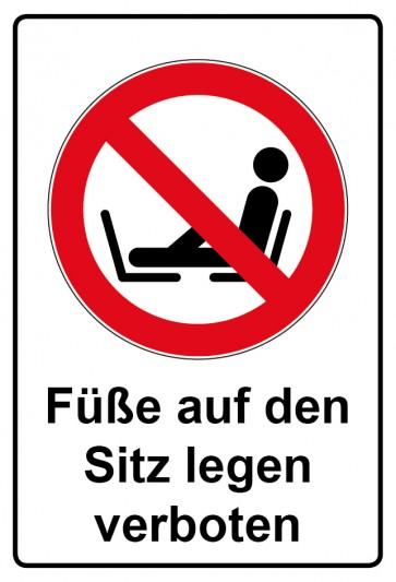Kombi Aufkleber Füße auf den Sitz legen verboten