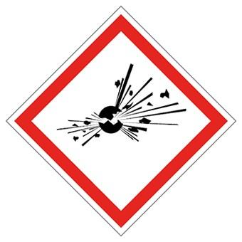 GHS Aufkleber Bombe, explosive Stoffe