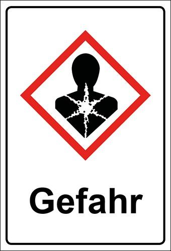 GHS Kombiaufkleber Gesundheitsgefahr Gefahr