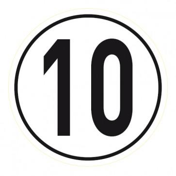 Geschwindigkeitsaufkleber 10 km/h