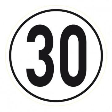 Geschwindigkeitsaufkleber 30 km/h