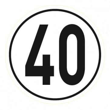 Geschwindigkeitsaufkleber 40 km/h
