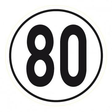 Geschwindigkeitsaufkleber 80 km/h