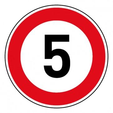 Geschwindigkeitsaufkleber Tempolimit 5 km/h