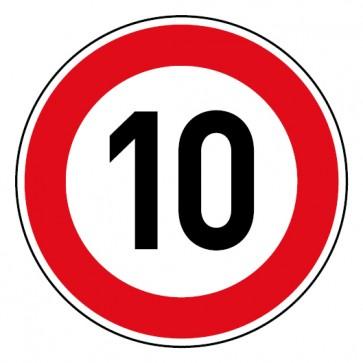 Geschwindigkeitsaufkleber Tempolimit 10 km/h