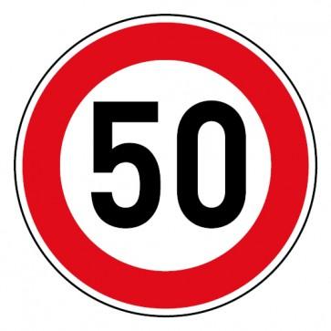 Geschwindigkeitsaufkleber Tempolimit 50 km/h