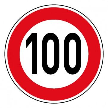 Geschwindigkeitsaufkleber Tempolimit 100 km/h