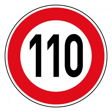 Geschwindigkeitsaufkleber Tempolimit 110 km/h