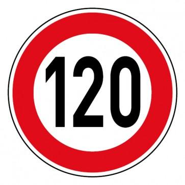 Geschwindigkeitsaufkleber Tempolimit 120 km/h