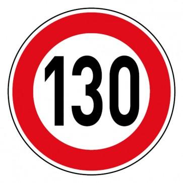 Geschwindigkeitsaufkleber Tempolimit 130 km/h