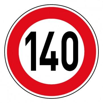 Geschwindigkeitsaufkleber Tempolimit 140 km/h