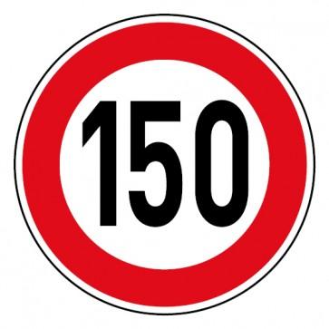 Geschwindigkeitsaufkleber Tempolimit 150 km/h