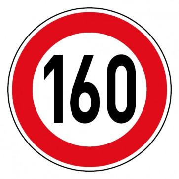 Geschwindigkeitsaufkleber Tempolimit 160 km/h