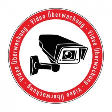 Aufkleber Videoüberwachung TYP 5