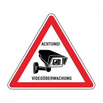 Aufkleber Videoüberwachung TYP 23