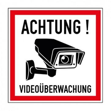 Aufkleber Videoüberwachung TYP 43