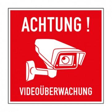Aufkleber Videoüberwachung TYP 45