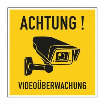 Aufkleber Videoüberwachung TYP 47