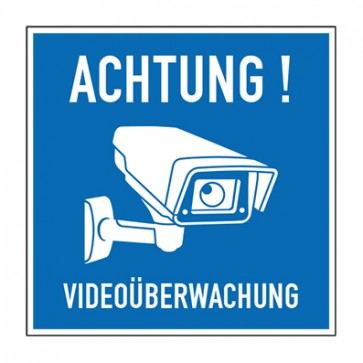 Aufkleber Videoüberwachung TYP 49