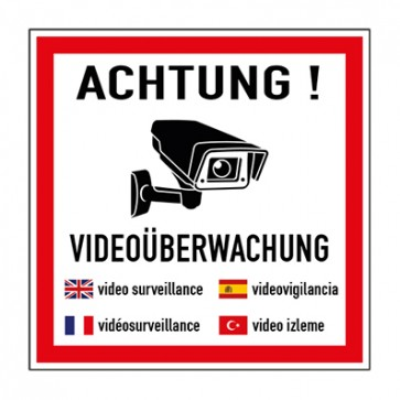 Aufkleber Videoüberwachung TYP 51