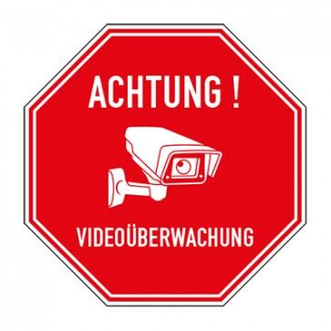 Aufkleber Videoüberwachung TYP 61