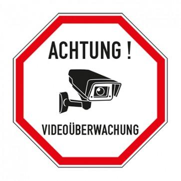 Aufkleber Videoüberwachung TYP 63