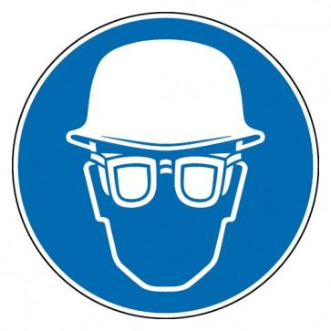 Gebotsschild Kopf- und Augenschutz benutzen