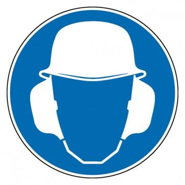 Aufkleber Gehör- und Kopfschutz benutzen