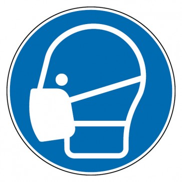 Aufkleber Maske benutzen