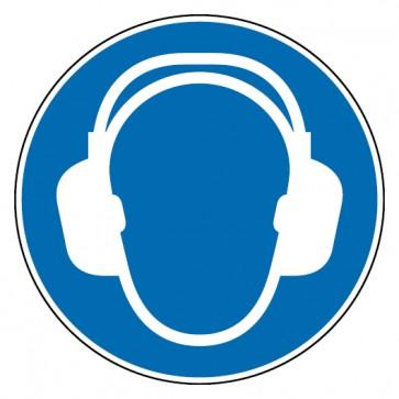 Aufkleber Gehörschutz benutzen