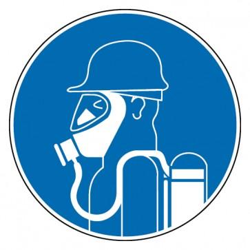 Aufkleber Schweren Atemschutz benutzen
