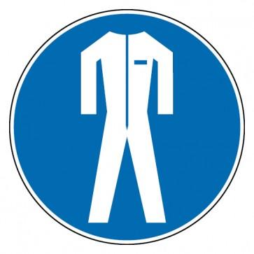 Gebotsschild Schutzkleidung benutzen