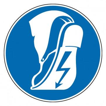 Gebotsschild Leitfähiges Schuhwerk tragen