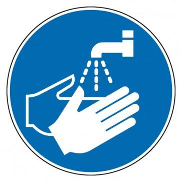 Aufkleber Hände waschen