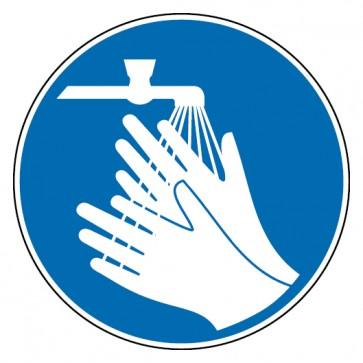 Gebotsschild Hände waschen