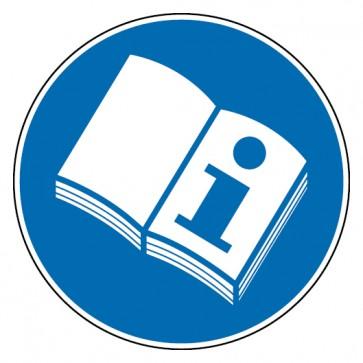 Gebotsschild Gebrauchsanweisung lesen