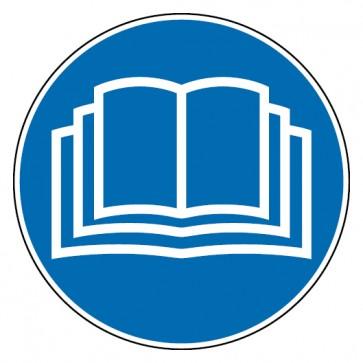 Gebotsschild Handbuch lesen