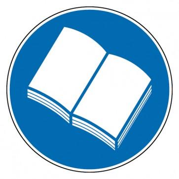 Aufkleber Handbuch lesen