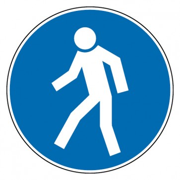 Gebotsschild Für Fußgänger