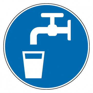 Aufkleber Trinkwasser