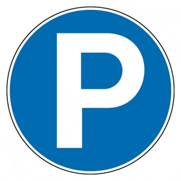 Gebotsschild Parken erlaubt