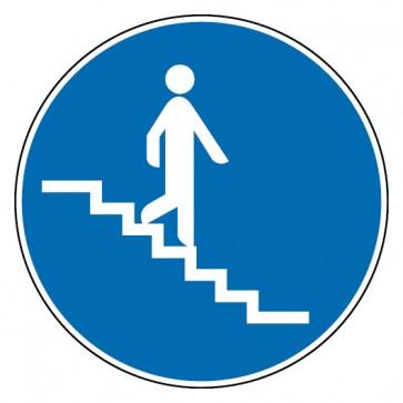 Gebotsschild Treppe abwärts
