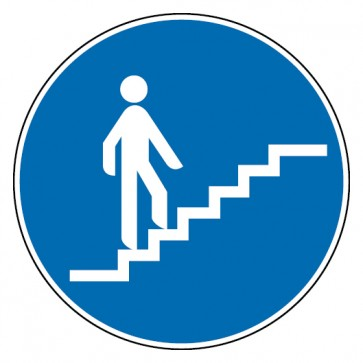 Gebotsschild Treppe aufwärts